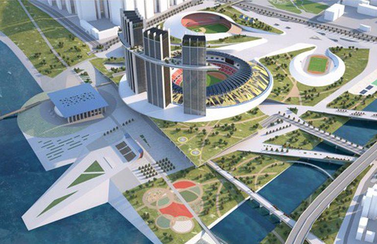 Studio Niko Kapa designs Jamsil Sports Hub in Seoul - Sheet1