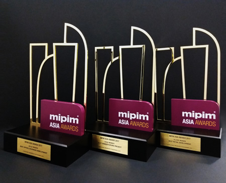 The 20 Most Creative Architecture Awards Trophies - MIPIM Asia Awards2017