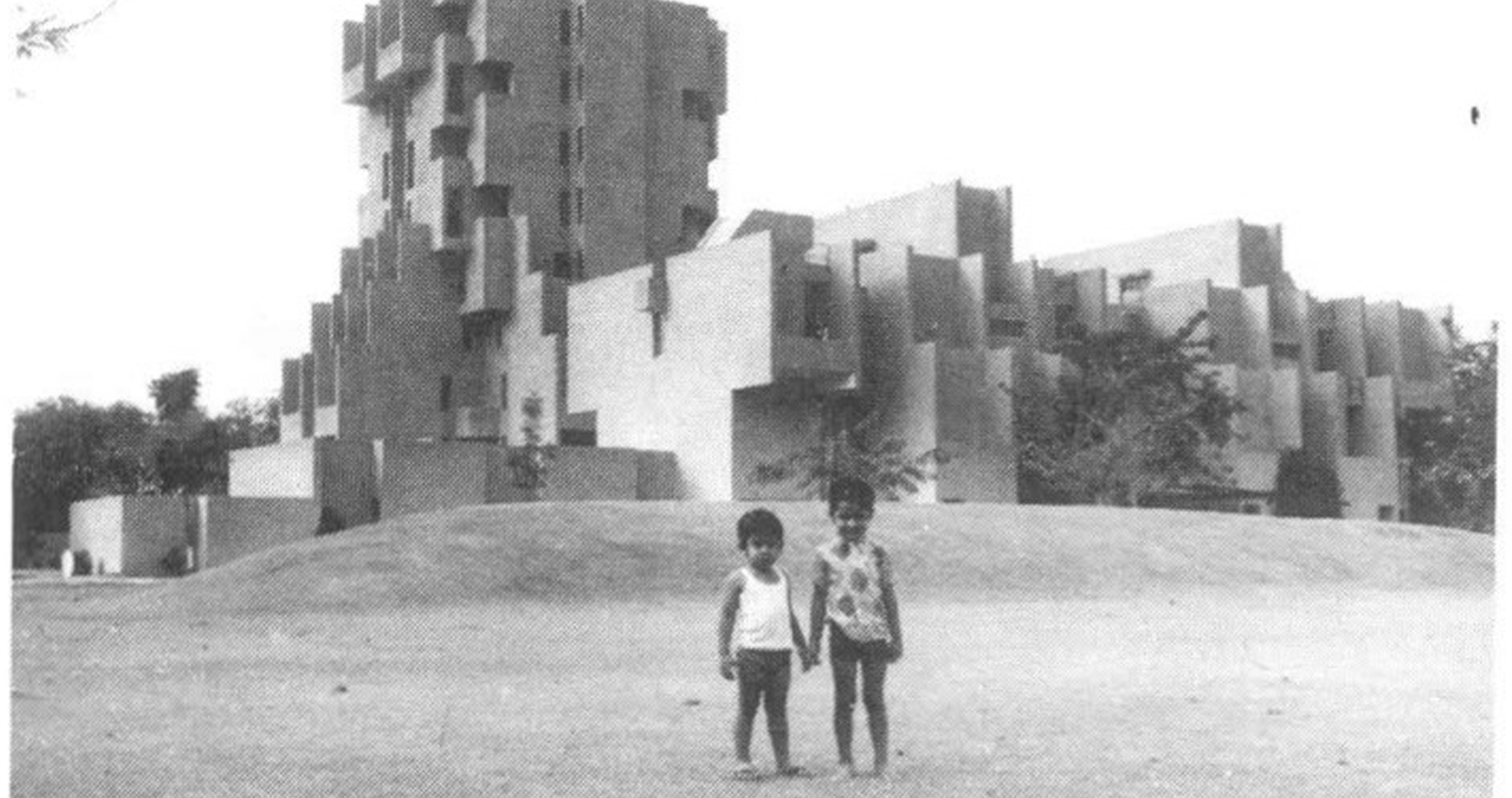 A journey of 100 years of Architecture in India | Part 02 - 1971-1973-Hostel-Tower-National-Dairy-Development-Board-Anand