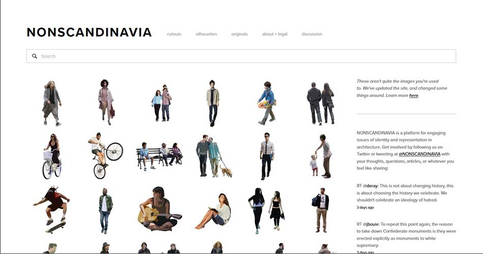 10 Websites to find Cutouts of People for Architectural Renderings - Nonscandinavia | Cutouts And Silhouettes Style | None Commercial Use