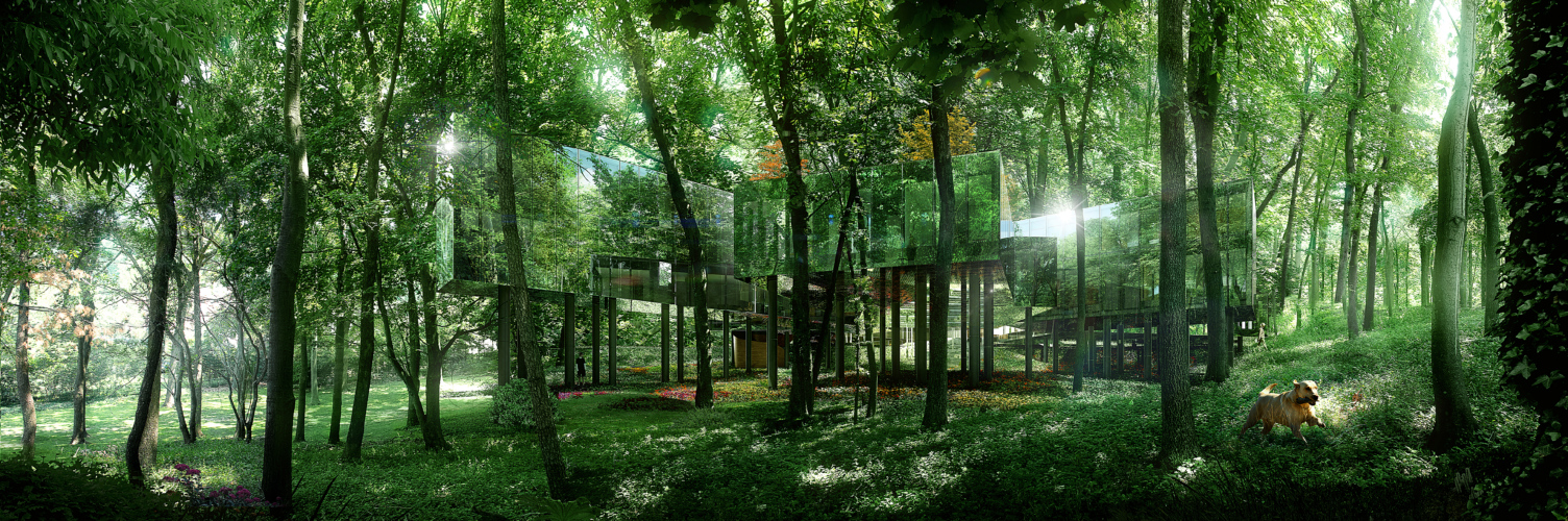 Conceptual view of the design - The Necklace Residence