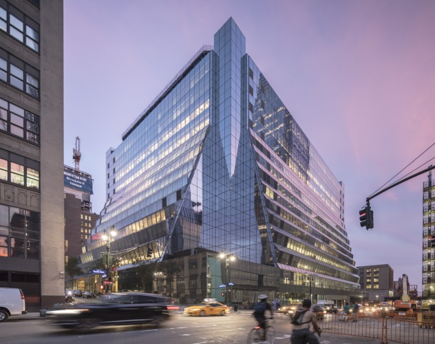 View of the renovated exterior facade - The Transformation of Five Manhattan West