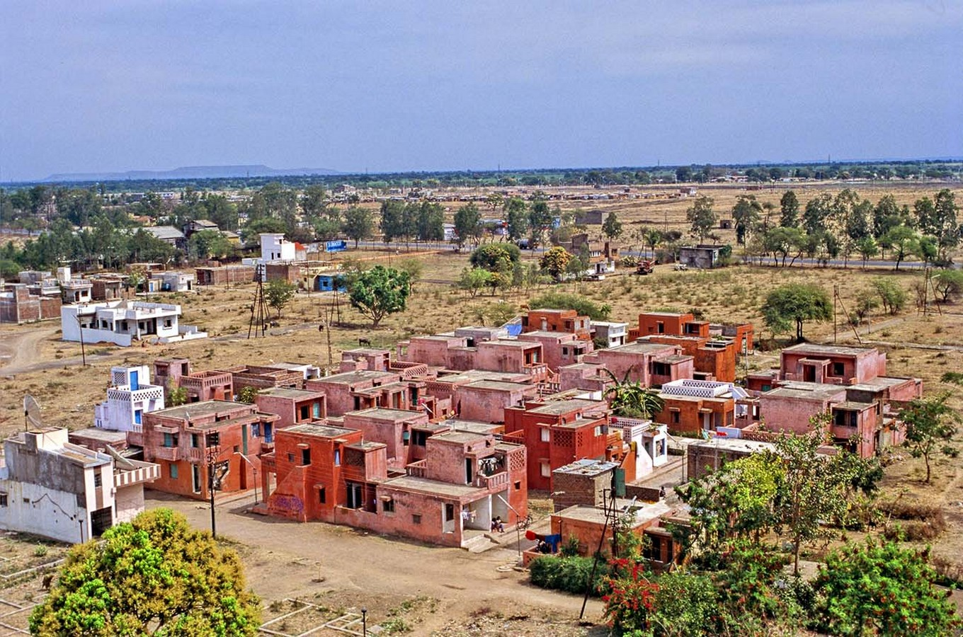 Aerial View of the site - Aranya Low Cost Housing