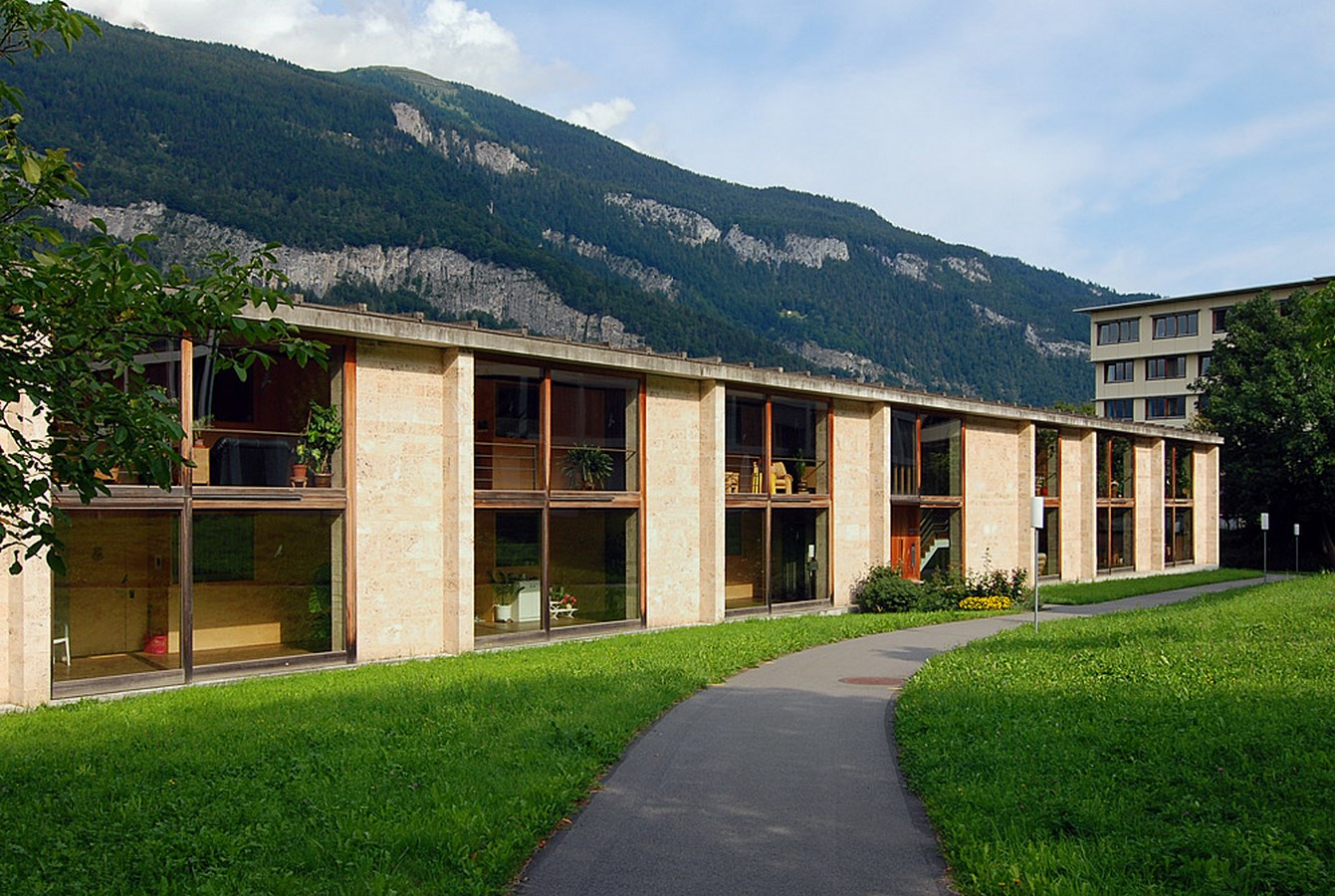View of linear building - Residential Home for the Elderly, Masans