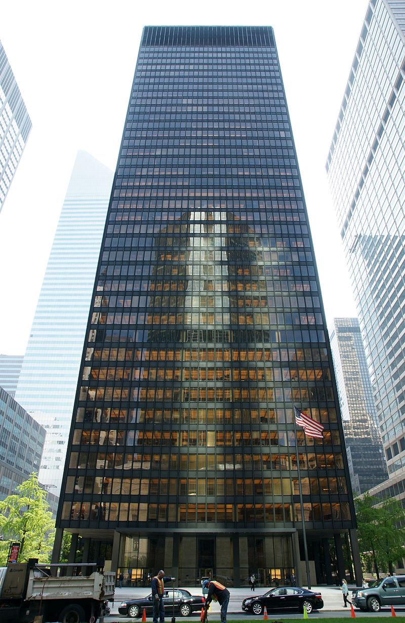 A long exposure of the skyscraper - Seagram Building