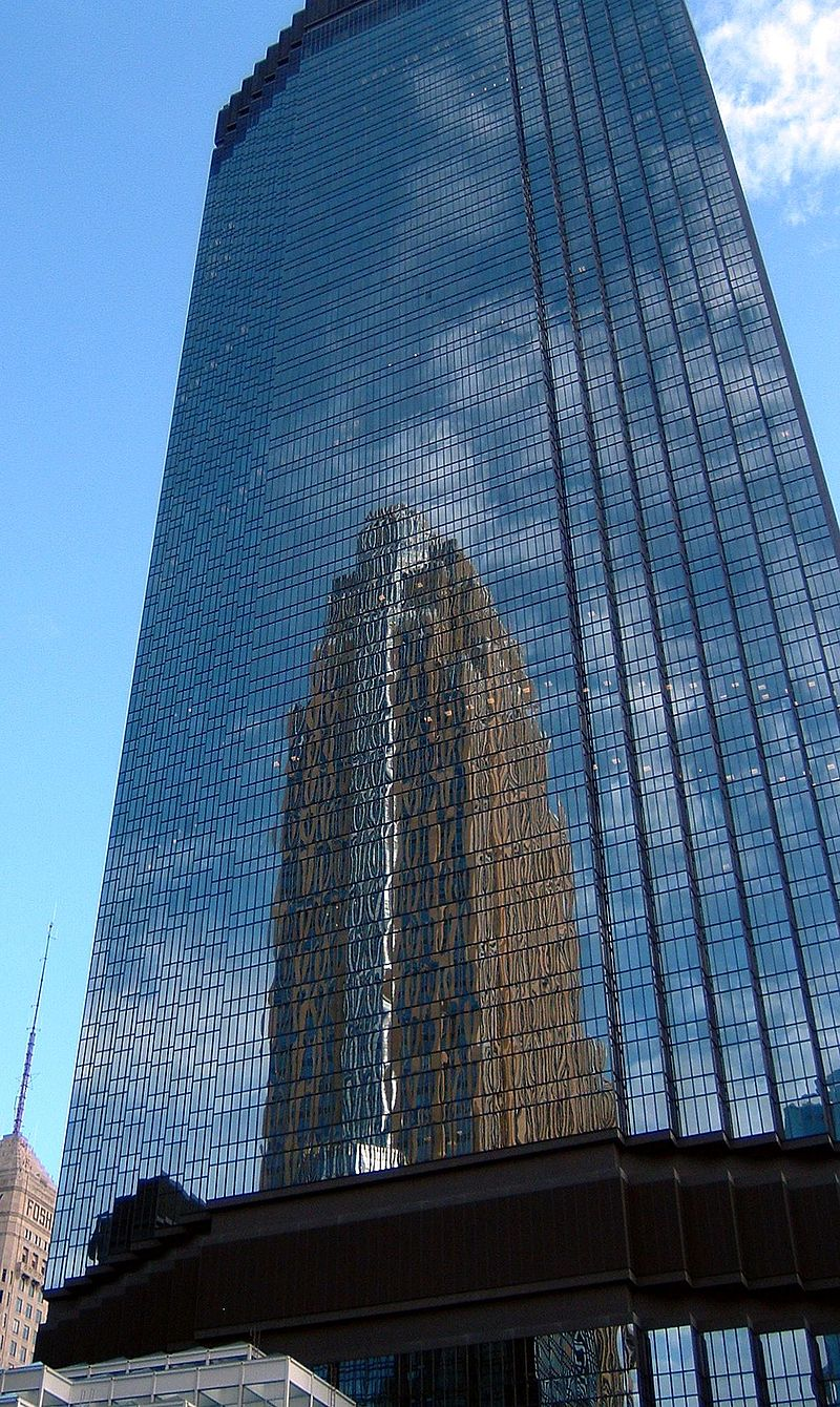 View of glass facade in the front - IDS Center