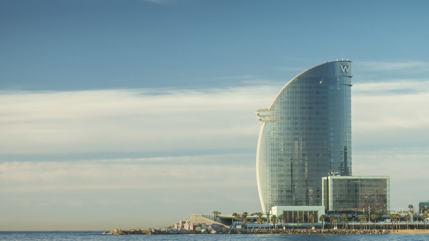 Side elevation of the building - W Hotel Barcelona