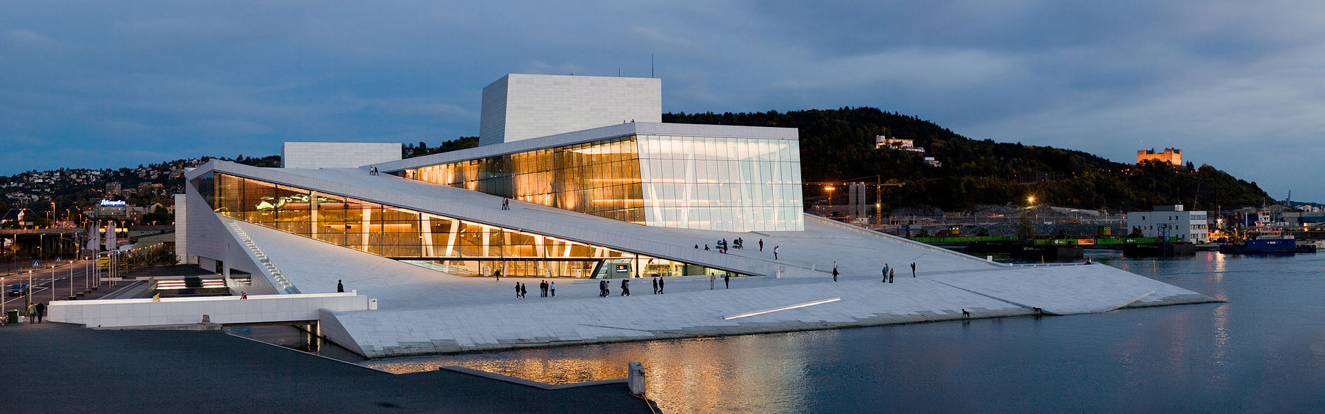 Panorama view of national opera theatre - Oslo Opera House