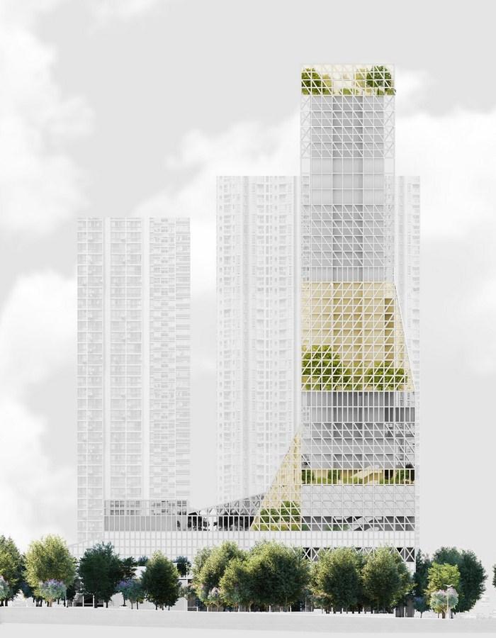Futian Civic Culture Center By Mecanoo - Sheet3